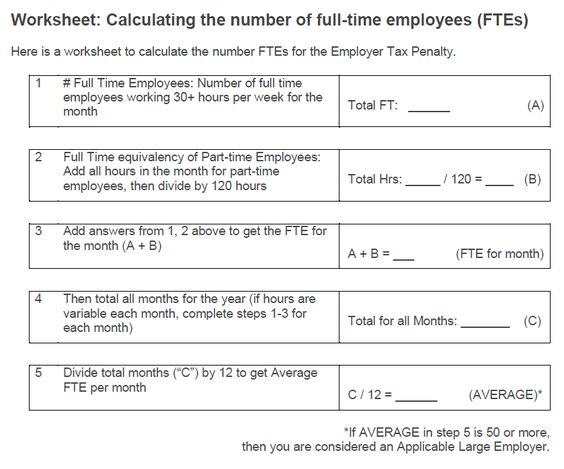 Printables Fte Calculation Worksheet worksheet for insurance requirements cumberland preschool calculate fte aca worksheet