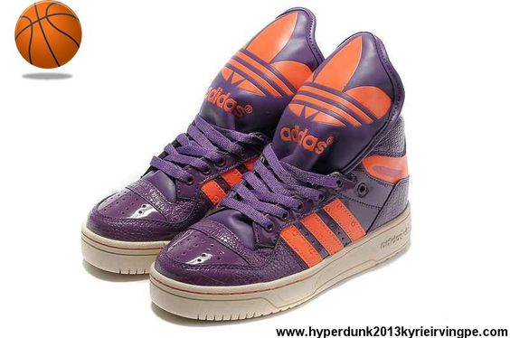 Latest Listing Adidas X Jeremy Scott Big Tongue Shoes Purple Basketball Shoes Shop