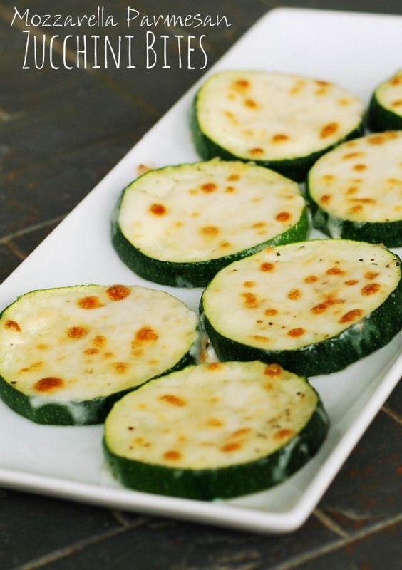 Mozzarella Parmesan Zucchini Bites- a delicious way to serve zucchini! ~ Creations by Kara