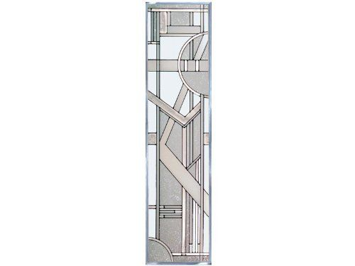 """Clear ART DECO ARCHITECTURAL Suncatcher Window 42""""x10.25"""" VERTICAL Crystalline Glass Panel by eEarthExchange.com. $109.95. **  ** SHIPS UPS - Order BY DECEMBER 13 for CHRISTMAS DELIVERY **  **. Suncatcher Window 10.25"""" x 42"""" Art Glass Panel with Metal Frame. Hooks & Chain included - Proudly made in the USA!. Matching 14x20 and 10x14 offered. Ships within 5 business days via UPS with insurance. This panel of art glass comes with frame-top hooks & chain for hanging. Like no o..."""