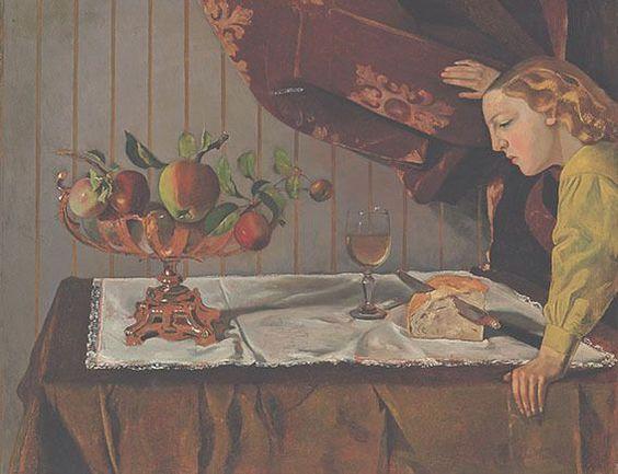 Balthus, Der Imbiss, 1940, Öl auf Karton auf Holztafel, 72,9 x 92,8 cm, Tate, London © Foto: TATE, London, 2015 (Photo Scala, Florence) © Balthus 2016