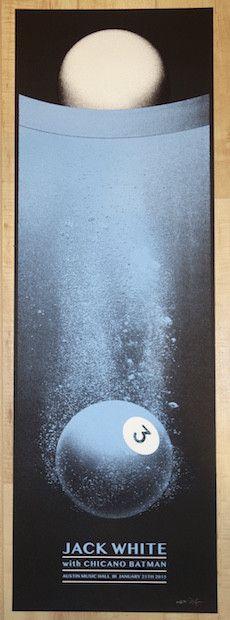 2015 Jack White - Austin Silkscreen Concert Poster by Rob Jones