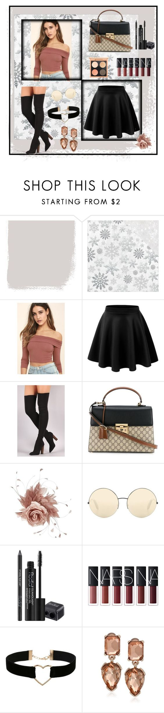 """""""cllasic"""" by sadeta-v ❤ liked on Polyvore featuring Kaisercraft, LULUS, Gucci, NERIDA FRAIMAN, Victoria Beckham, Rodial, Miss Selfridge and Kenneth Cole"""