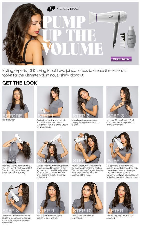 Creating A Professional Looking Hair Style At Home With Your Own Blow Dryer Women Fitness Magazine Volume Hair Hair Styles Blow Dry Hair