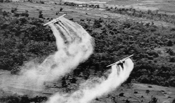 The U.S. military sprayed about 19 million gallons of defoliants during the Vietnam War. The chemicals mostly Agent Orange killed the jungle brush and denied the enemy cover, but also may have caused cancer and other serious medical ailments in millions of Vietnamese people and American service members