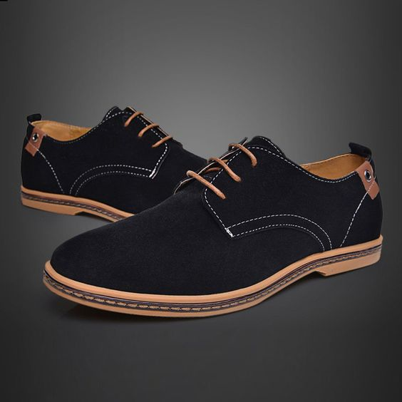 Free shipping Fashion Suede genuine leather oxfords california ...
