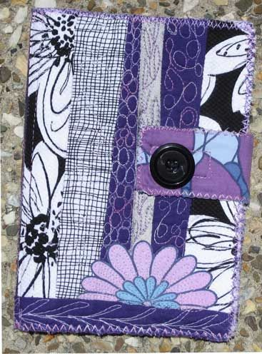 Fabric quilted Art Journal by Bekahdu