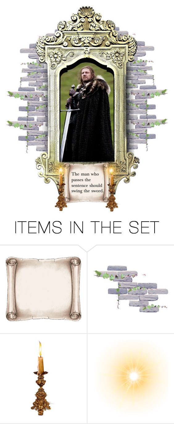 """Ned Stark as The Father"" by annette-heathen ❤ liked on Polyvore featuring art"