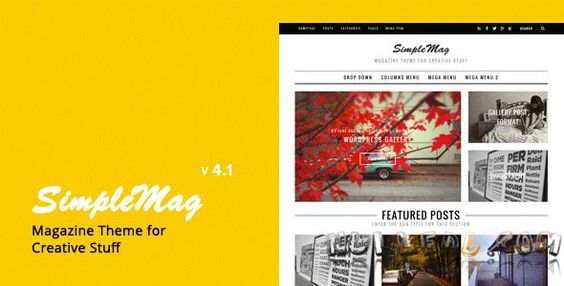 SimpleMag v4.1  Magazine Theme For Creative Stuff