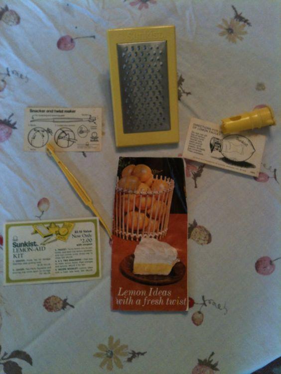 Vintage Sunkist Lemonade Kit by RetroRevolutions on Etsy, $6.95