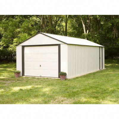 Arrow Murryhill 12 Ft 2 In W X 9 Ft 9 In D Metal Garage Shed Shedplans Building A Shed Metal Storage Sheds Storage Shed Kits