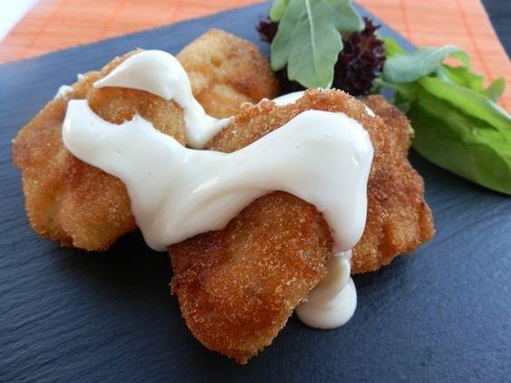 Fritos de cazón marinado con mahonesa
