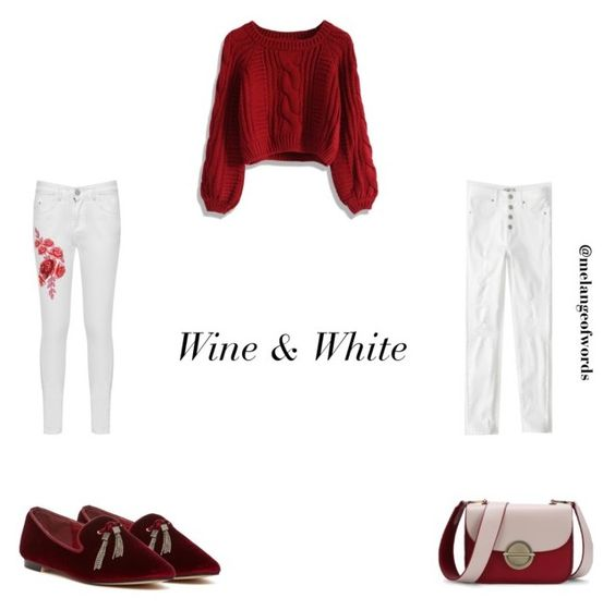 Wine & White by maha141193 on Polyvore featuring Chicwish, Abercrombie & Fitch, WearAll, Catherine Catherine Malandrino, winterfashion and fallfashion