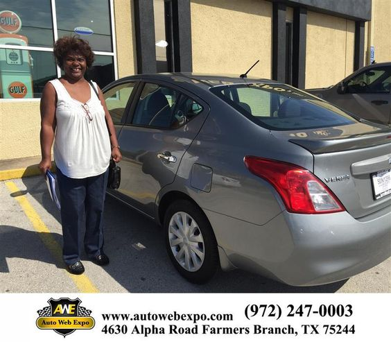 Congratulations to Tina Jackson on your #Nissan #Versa purchase from Aime Cruz at Auto Web Expo Inc! #NewCar