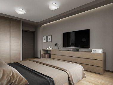 寝室 置き型 テレビ コーディネート例