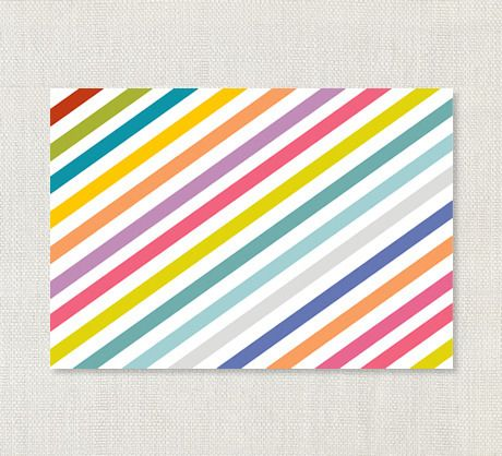 penny stripe card from the penny paper co.