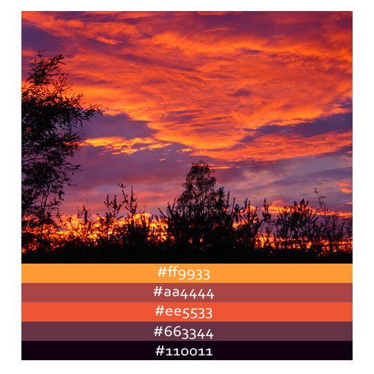 Sunset Color Palette Bing Images I Do Ideas