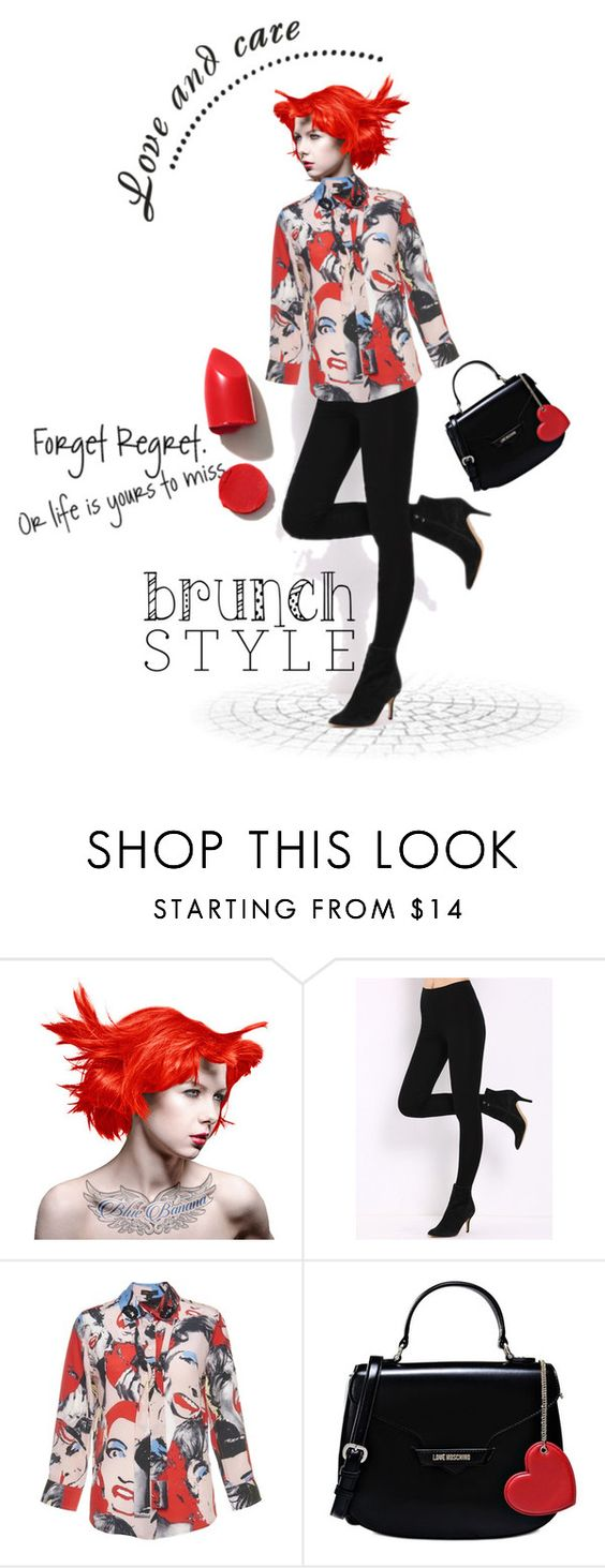 """""""Brunch with Friends"""" by kari-c ❤ liked on Polyvore featuring Manic Panic, Love Moschino, NARS Cosmetics and brunch"""