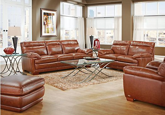 Shop for a cindy crawford home casa moderna chestnut for Find living room furniture
