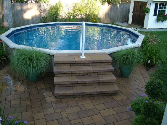A Small Oasis In Your Back Yard 18 39 Semi In Ground Pool Installed In 2013 Finishing Off The