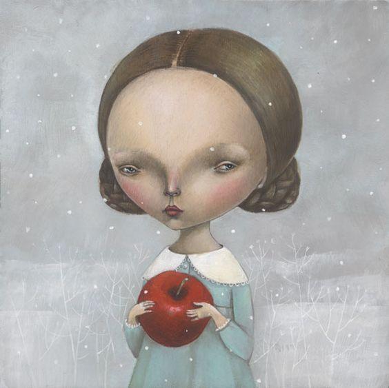 Painting by dilka bear, via Behance