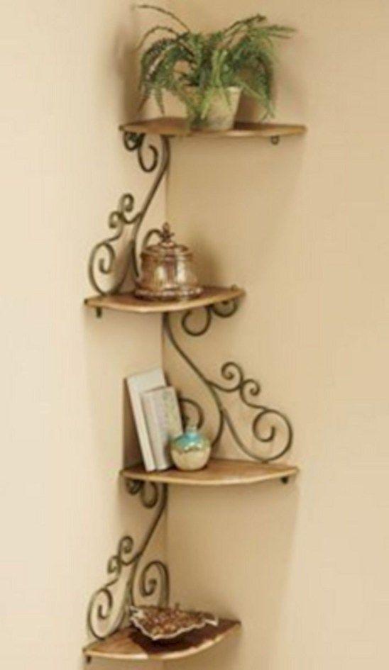 Charming Corner Shelves Ideas To Save Some Space 40 Corner Shelf Design Iron Decor Decor