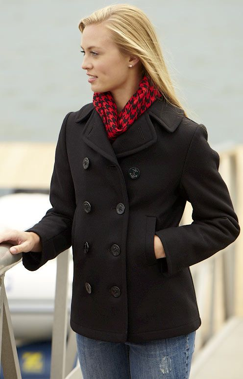 Pea Coats for Women | Women&39s Navy Pea Coat - The Classic