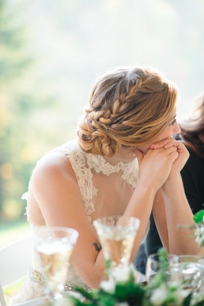 Pretty braid: http://www.stylemepretty.com/2015/03/20/intimate-tent-wedding-at-welkinweir-estate/ | Photography: Rachel Pearlman - http://www.rachelpearlmanphotography.com/