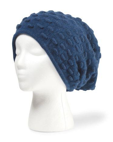 Cashmere Popcorn Stitch Hat