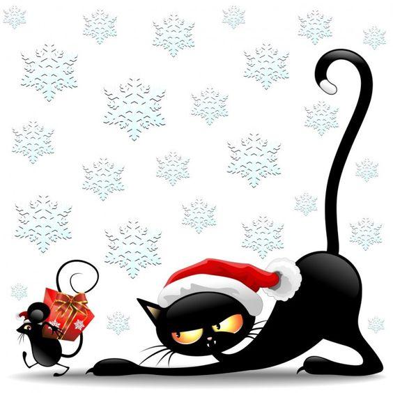Kerstfeest En, Dibujos Divinos, Navidad, Ilus, Divertido, Patrones, Gatos De Dibujos Animados, Dibujo Animado Del Ratón, Divertida Del Gato