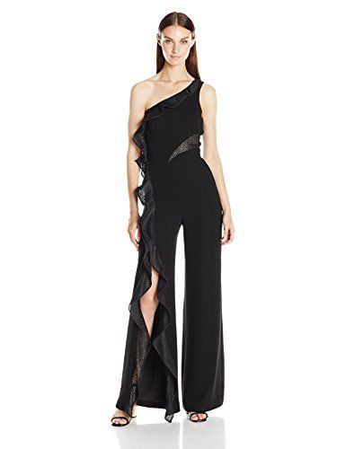 Jonathan Simkhai Women's Diamond Mesh One Sleeve Jumpsuit...