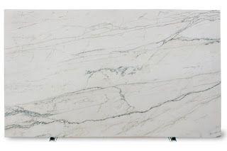 Michael Homchick Stoneworks White Macaubus cross-cut (Oregon Tile and Marble)