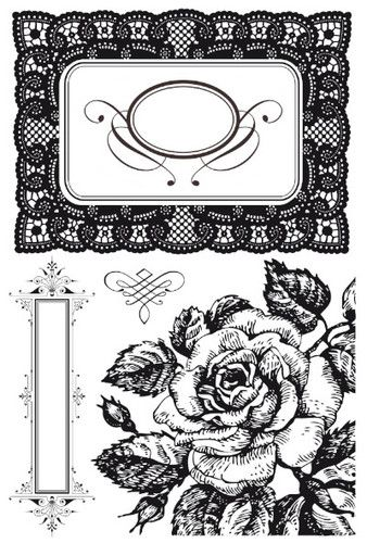 Kaisercraft Clear Rubber Stamps These Days CS816 Rose Frame Stamping Craft   eBay