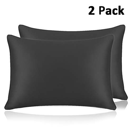 Adubor Silk Satin Pillowcase 2 Pack Silky Pillow Cases For Hair And Skin Hypoallergenic Anti Wrinkle Super Soft And Luxury Pillow Cases Covers With Envelope C