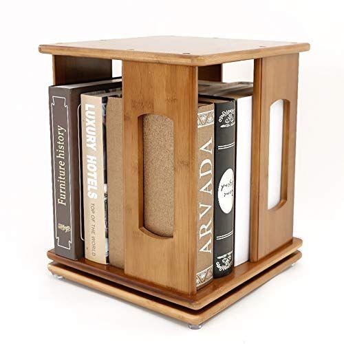 Xf Hong Tai Yang Bookcase Creative Rotating Bookshelf Wooden