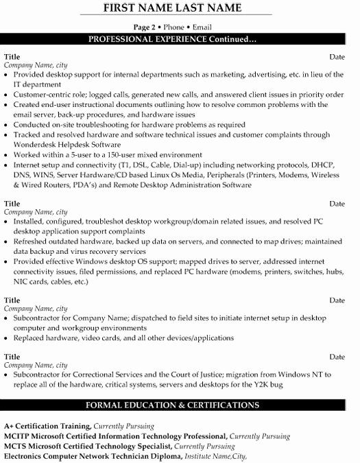 Technical Support Engineer Resume Inspirational Technical Support Engineer Resume Sample Template In 2021 Sample Resume Resume Objective Professional Resume Samples