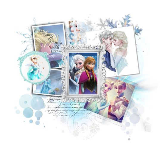 """Elsa Contest Collage"" by abandoned-leftpolyvore ❤ liked on Polyvore featuring Polaroid, Disney and Essie"