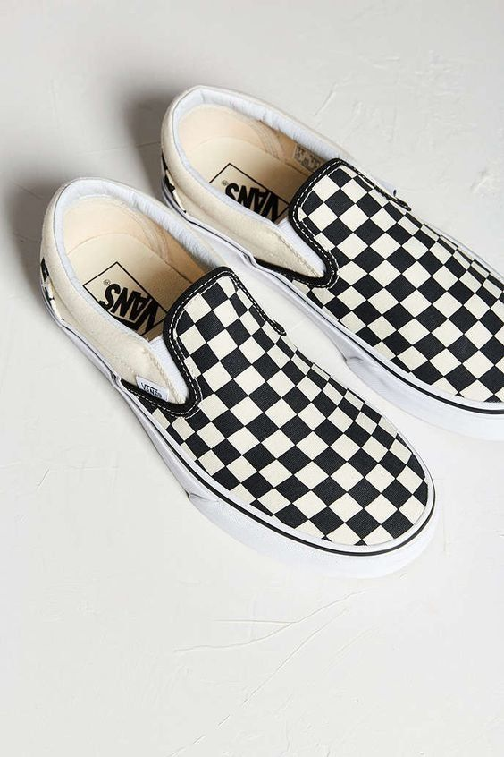 Shoes | Checked print | Vans | Black and white | Inspiration ...