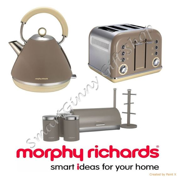 Details about morphy richards accents barley beige kettle for Matching kitchen sets