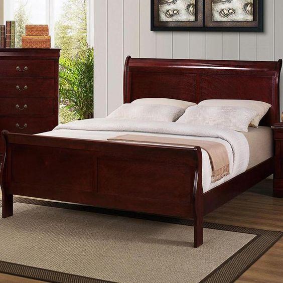 Louis Phillipe King Sleigh Bed In Cherry Nebraska Furniture Mart Bedroom Pinterest