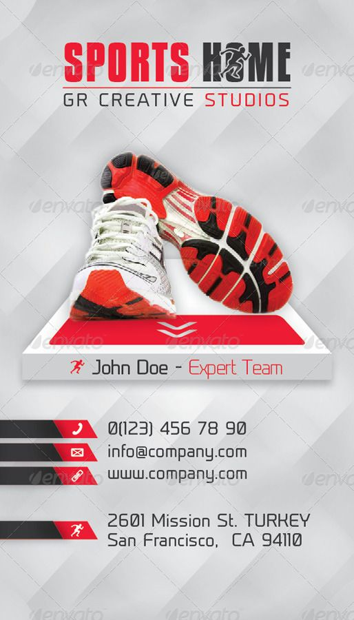 Sports House Business Card Template Ad House Ad Sports Business Template Business Card Template Business Cards Templates