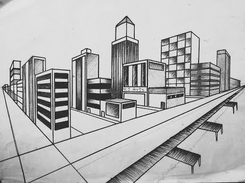 Circle Line Art School Youtube In 2020 Landscape Drawings Drawing Scenery City Drawing