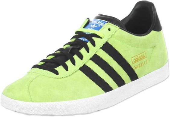 STUNNING NEON GREEN/BLACK GAZELLES - STAND OUT IN THE CROWD!
