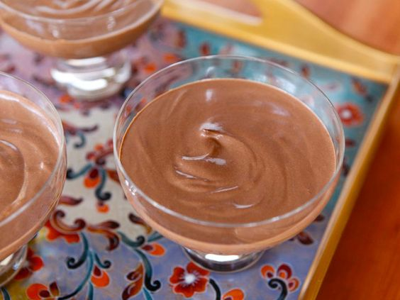 Chocolate mousse made with creamy Greek yogurt. Lower fat and calories than traditional chocolate mousse. Easy healthy dessert recipe.