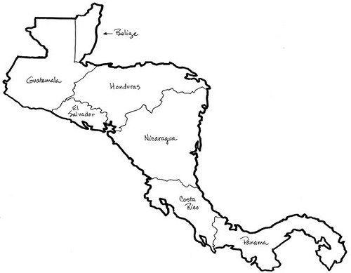 Mapa De Centroamerica Para Colorear Imagenes Del Mapa De America Central Blogitecno Tecnologia Informat Central America Map America Map South America Map
