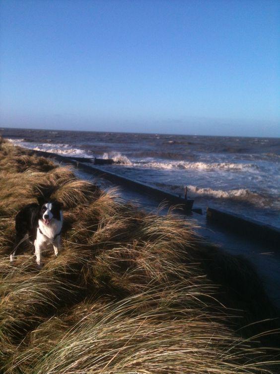 Fleetwood beach 2nd jan.WINDY
