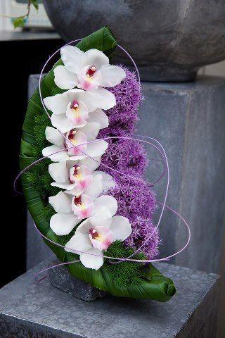orchid e feuille de bananier fleuriste de go t pinterest beautiful fleur et inspiration. Black Bedroom Furniture Sets. Home Design Ideas