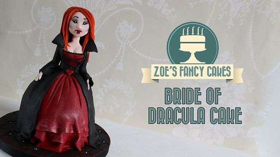 Halloween cake tutorial Bride of Dracula doll cake.