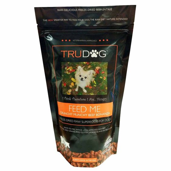 Trudog Feed Me Beef Nibblet Entrée Dog Food 14 ounces