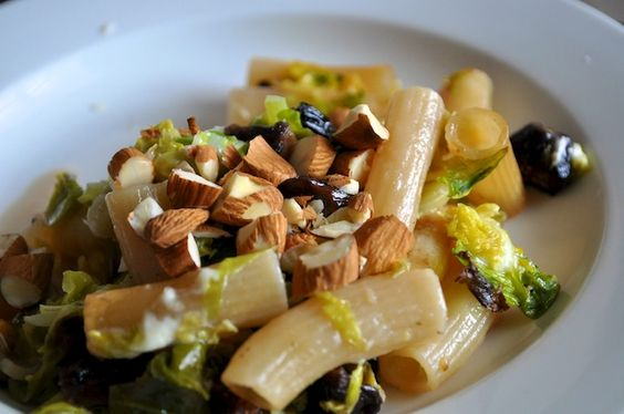 Week 4: Baked Rigatoni with Brussels Sprouts, Figs and Blue Cheese by Wine Food Love